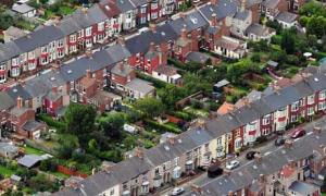 Aerial view of houses in Hartlepool